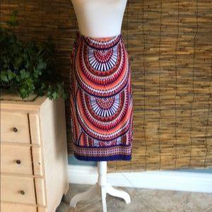 Knit skirt knee length